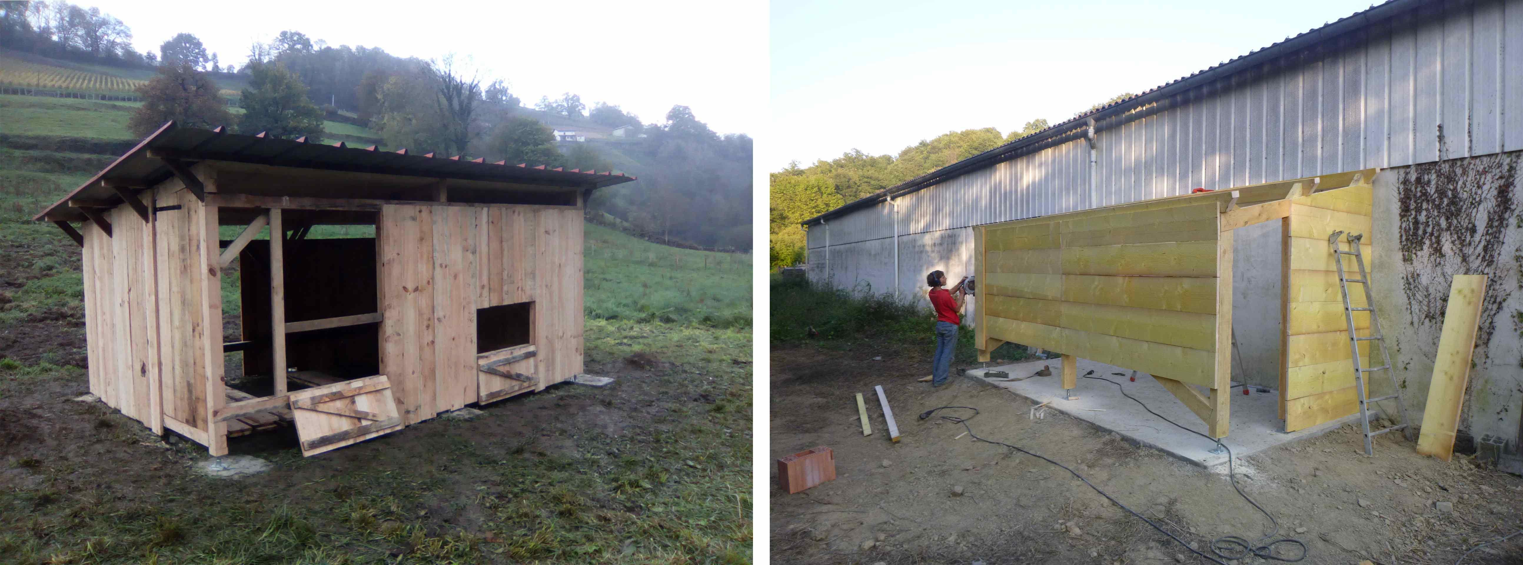 Construire Abris Bois abris en bois - l'atelier paysan
